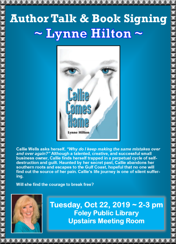 """Author Talk and Book Signing – Lynne Hilton's book """"Callie Comes Home"""""""