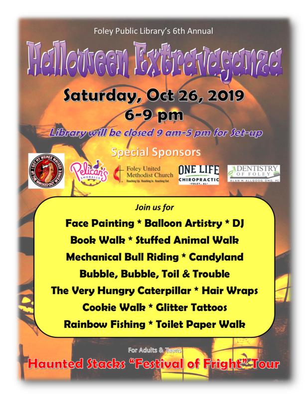 Foley Public Library's 6th Annual Halloween Extravaganza
