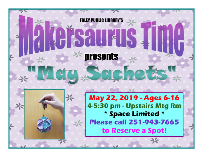 "Makersaurus ""May Sachets"""