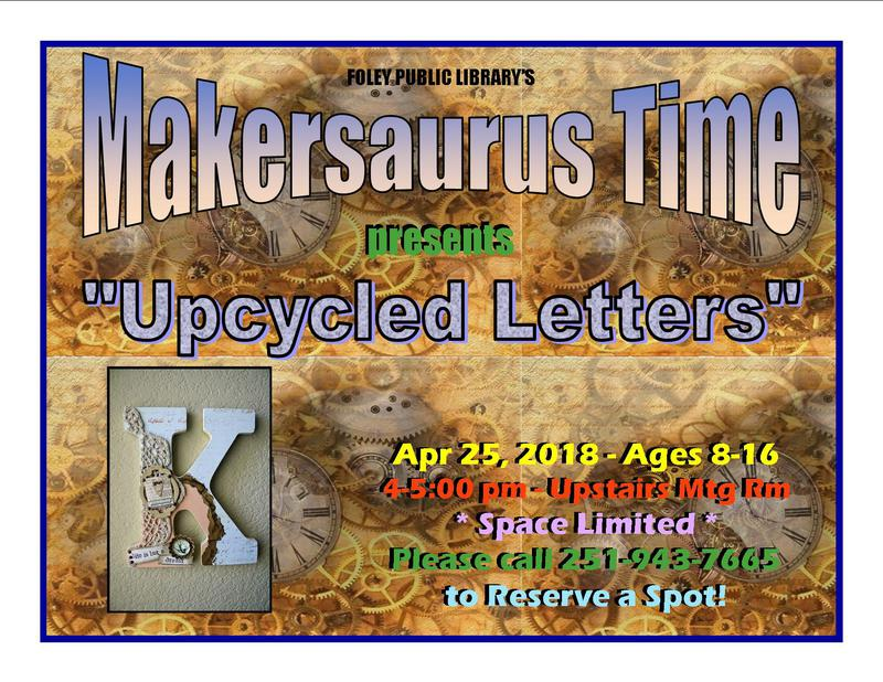"Makersaurus ""Upcycled Letters"""