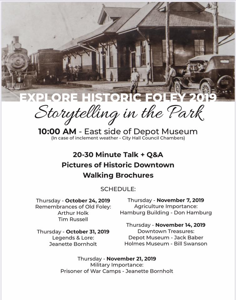 Storytelling in the Park – Military Importance Prisoner of War Camps